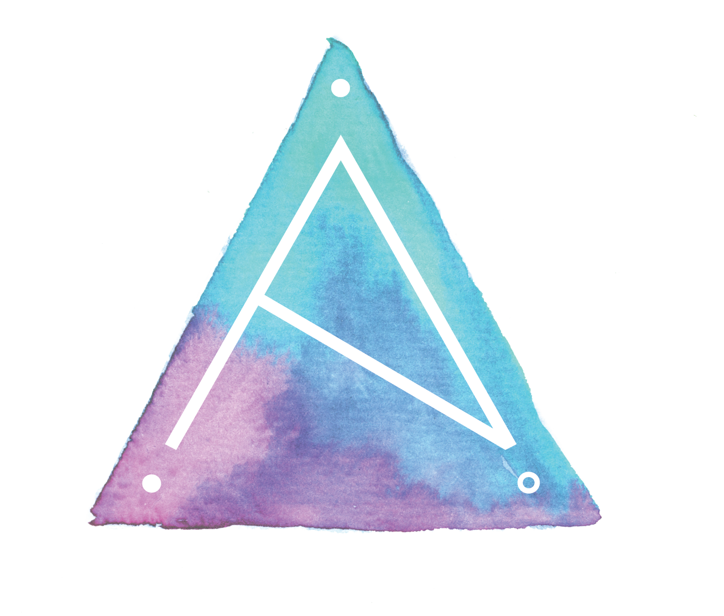 alison titus jewelry logomark with watercolor triangle element