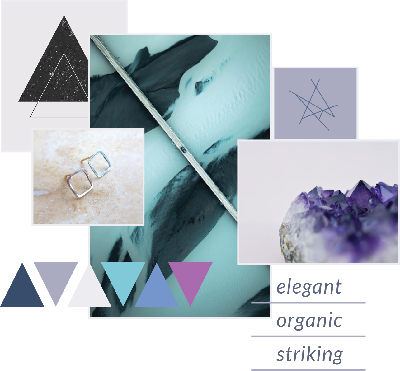 alison titus jewelry branding guidelines for imagery, texture, and color