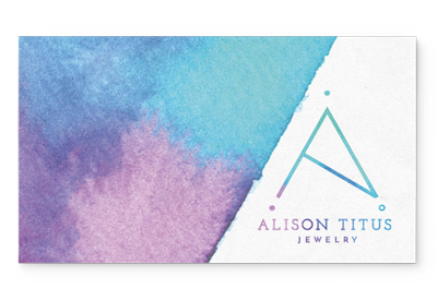 alison titus jewelry business card front