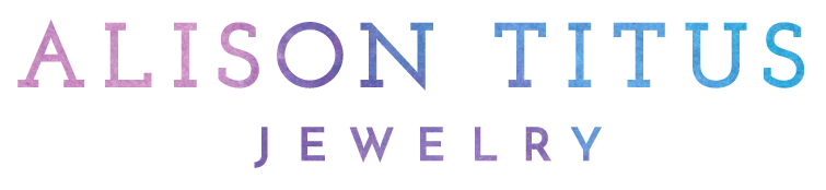 alison titus jewelry wordmark logo with watercolor texture