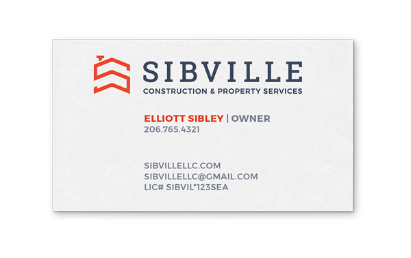 back of Sibville business card