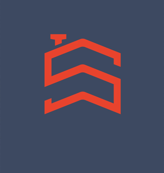 red Siville logo on navy background