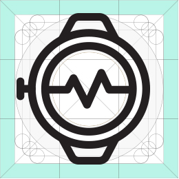 REI fitness watch icon