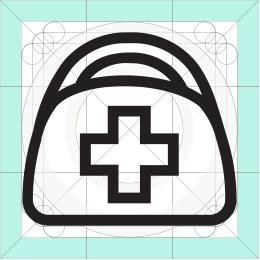 REI first aid kit icon