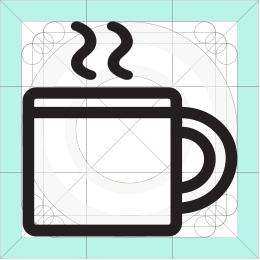 REI camping mug icon